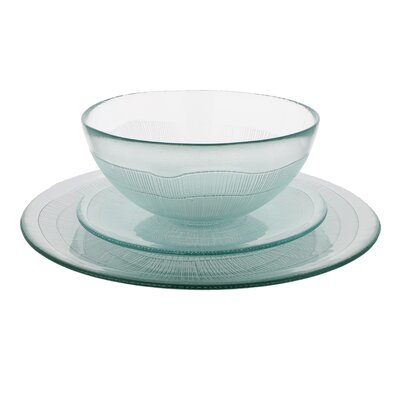 Recycled Glass 12 Piece Dinnerware Set Color: Clear
