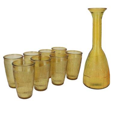 Orozco Recycled Glass 9-Piece Carafe Set 6CA30588D778489EA931EEDE37A8D614