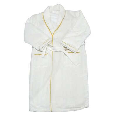 Spa and Bath European Waffle Weave Terry Cloth Robe