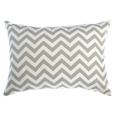 Zig Zag Reversible Sham Size: King, Color: Silver