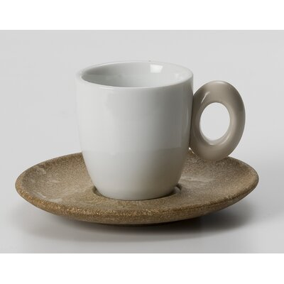 Eco Living 3.5 Oz. Coffee Cups In Ivory (set Of 6)