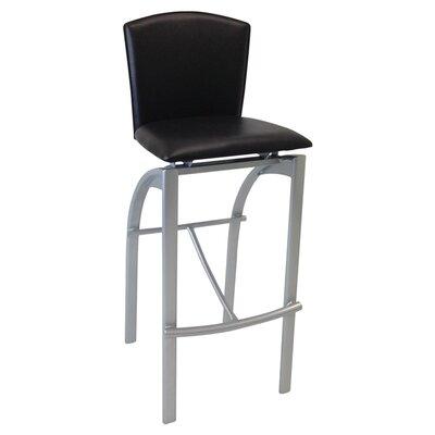 31.5 Bar Stool Upholstery: Black