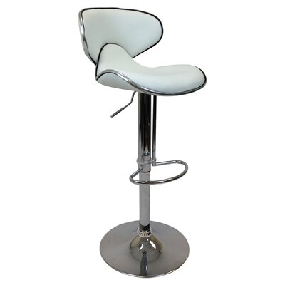 Adjustable Height Bar Stool (Set of 2) Upholstery: White