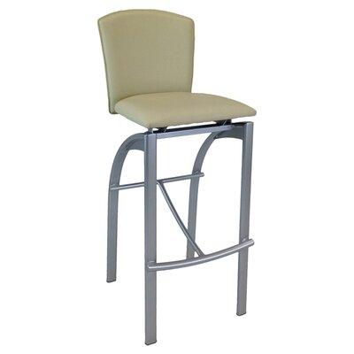 31.5 inch Bar Stool Upholstery: Ivory