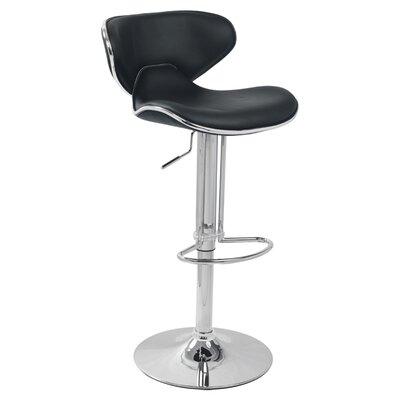 Adjustable Height Bar Stool (Set of 2) Upholstery: Black