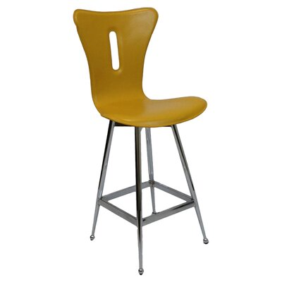 26 Bar Stool (Set of 2) Upholstery: Yellow