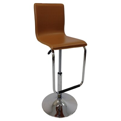 Adjustable Height Bar Stool Upholstery: Tan