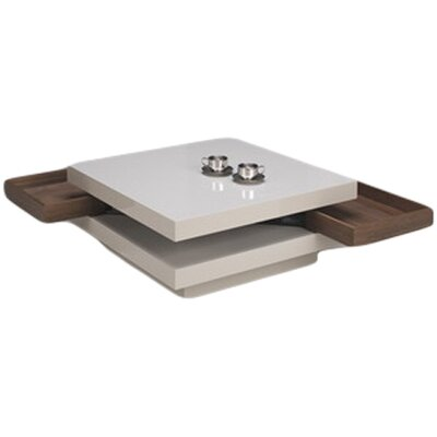 Hideaway Coffee Table Drawer Finish: White Lacquer