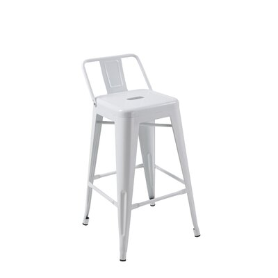 Deitch 30 Bar Stool (Set of 4) Finish: White