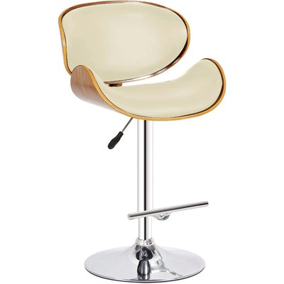 Adjustable Height Swivel Bar Stool Color: Ivory