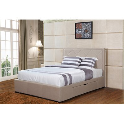 Sycamore King Storage Platform Bed Color: Khaki
