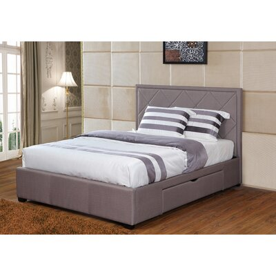 Sycamore King Storage Platform Bed Color: Gray