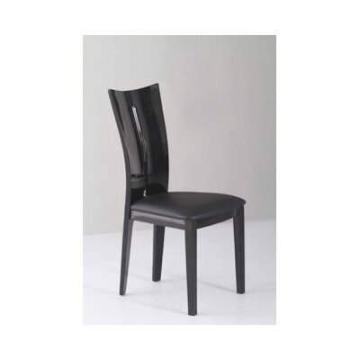 Side Chair (Set of 2) Frame Finish: Black
