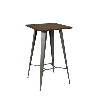 Johnstown Pub Table Color: Gunmetal