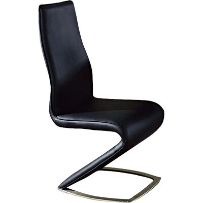 Side Chair (Set of 2) Upholstery: Black