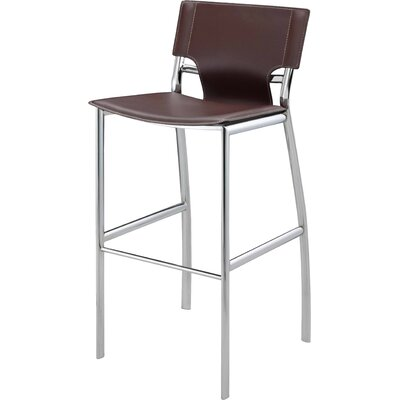 30 Bar Stool (Set of 2) Upholstery: Brown