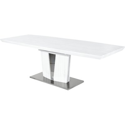 Extension Dining Table Finish: White Lacquer