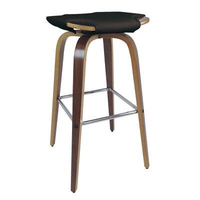 Kasen Bar Stool (Set of 2) Upholstery: Black