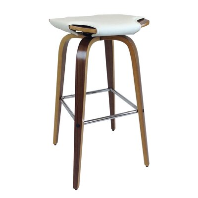 Kasen Bar Stool (Set of 2) Upholstery: White