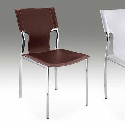 Side Chair (Set of 2) Upholstery: Dark Brown