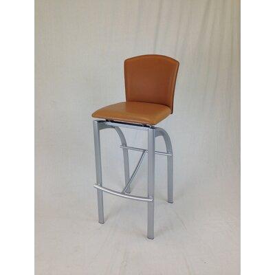 31.5 Bar Stool Upholstery: Walnut