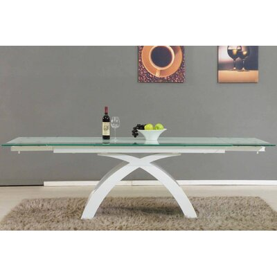 Blackburn Extendable Dining Table Base Finish: White