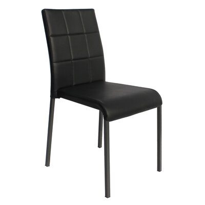Tony Stackable Side Chair (Set of 4) Upholstery: Black