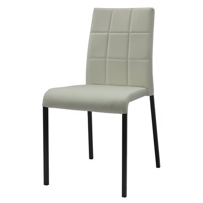 Tony Stackable Side Chair (Set of 4) Upholstery: White