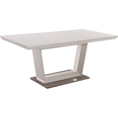 Extendable Dining Table Top Color: White