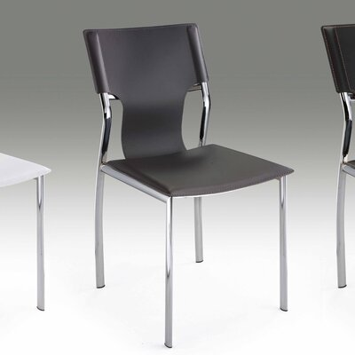 Ashli Upholstered Dining Chair (Set of 4) Upholstery: Gray