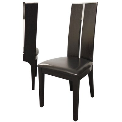 Covina Upholstered Dining Chair (Set of 2) Color: Black
