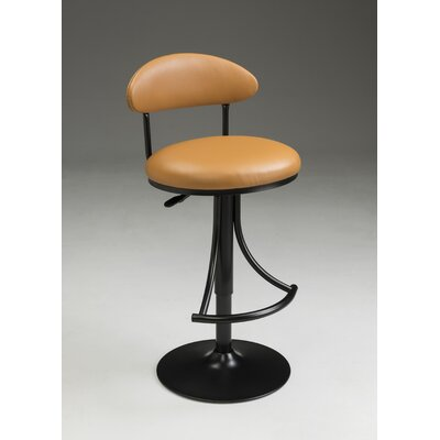 Eda Adjustable Barstool Color: Taupe