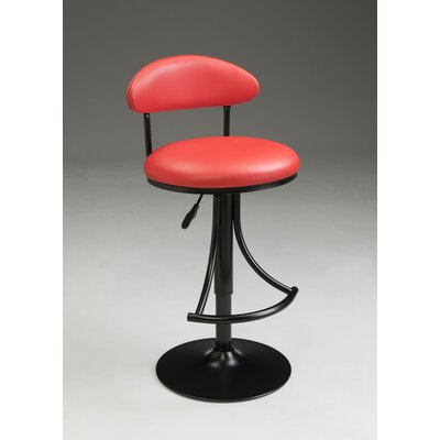 Eda Adjustable Barstool Color: Red
