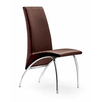 Hamil Dining Chair Color: Brown