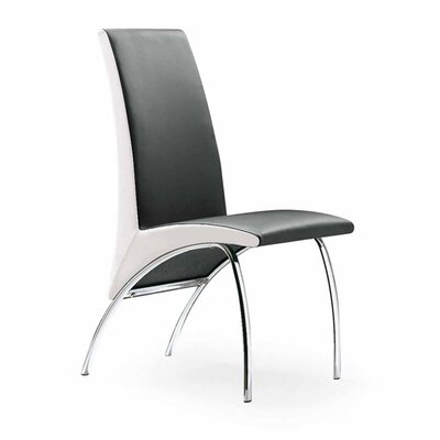 Hamil Dining Chair Color: Black/White