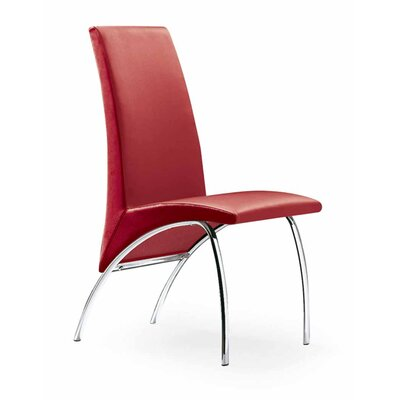 Hamil Dining Chair Color: Red