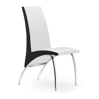Hamil Dining Chair Color: White/Black