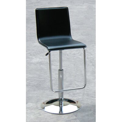 Adjustable Height Bar Stool Upholstery: Black