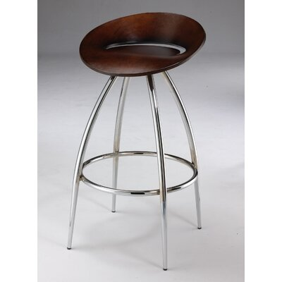 Laminated Wood Swivel Barstool