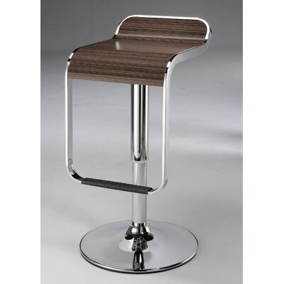 Adjustable Height Bar Stool Upholstery: Wood