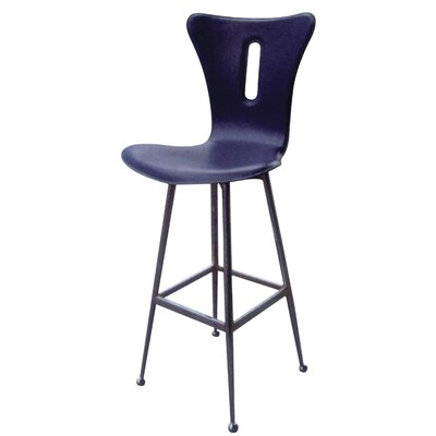 26 Bar Stool (Set of 2) Upholstery: Black