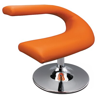 Leatherette Side Chair Upholstery: Orange
