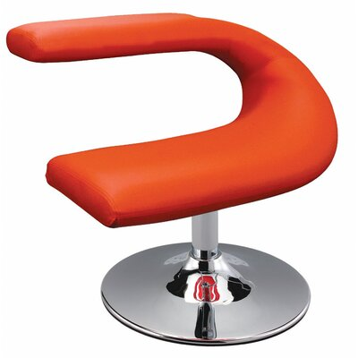 Leatherette Side Chair Upholstery: Red
