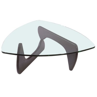 Glass Coffee Table Color: Dark Brown