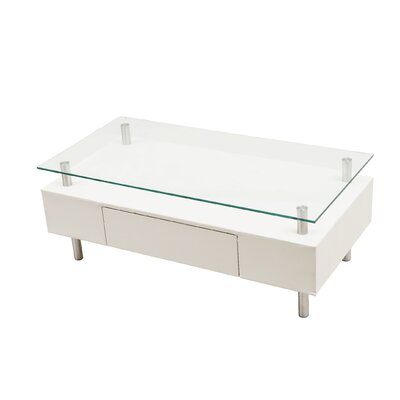 PU Coffee Table Color: White