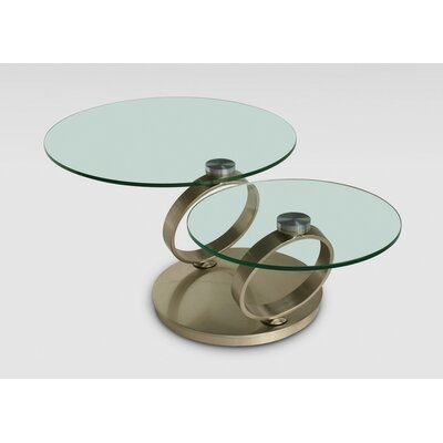 Motion Coffee Table Color: Brushed Nickel