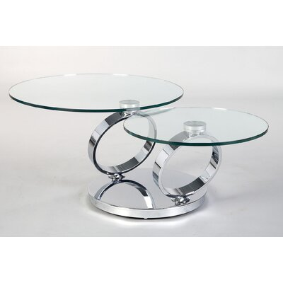 Motion Coffee Table Finish: Chrome