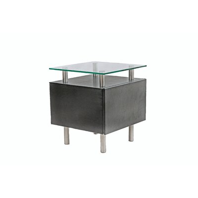 PU End Table Finish: Black