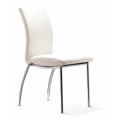Donaldson Side Chair (Set of 4) Upholstery: White