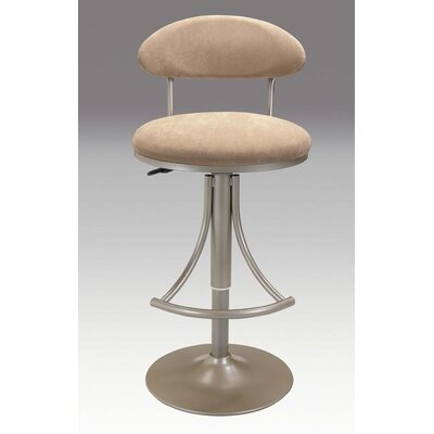 Adjustable Height Swivel Bar Stool Upholstery: Champagne